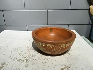 hand carved Wooden African Bowl In Immaculate Condition