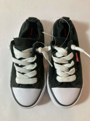 Details about  /NEW Levi/'s Black Denim Girls Stan G Canvas Sneakers Gym Shoes