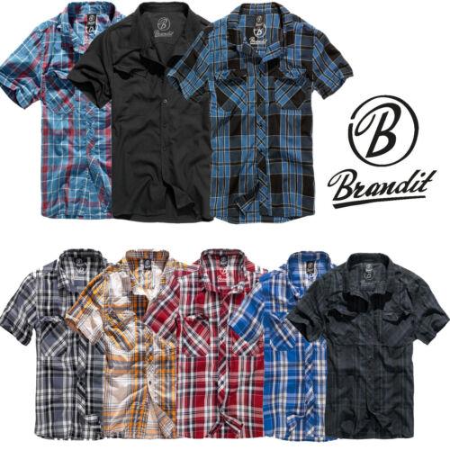 Brandit Uomo Camicia ROADSTAR 1//2 4012 Sleeve Camicia Flanella a Quadri a Maniche Corte holzfäl