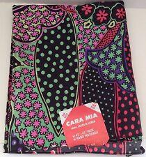 Fabric Cara Mia Acetate Surah 2.5 Yards  45 x 96 Vintage Mod Smooth 70s Floral