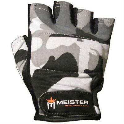 URBAN CAMO WEIGHT LIFTING WORKOUT LEATHER GLOVES Meister Fitness Training SIZES
