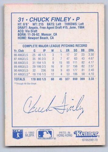 Kenner Starting Lineup Card CALIFORNIA ANGELS Details about  /1992  CHUCK FINLEY