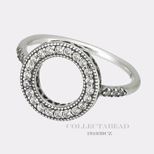 6062f575a Image is loading Authentic-Pandora-Sterling-Silver-Halo-CZ-Ring-Size-