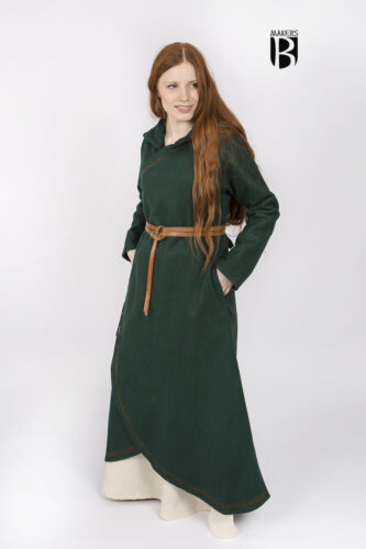 Medieval Wrap Around Coat ENYA LARP Green