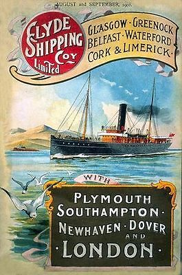 Small Metal Tin Sign Sea Steam Ocean Liner Boat Ship Picture Isle of Man