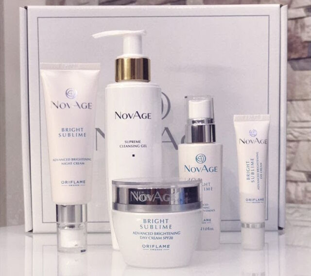 Oriflame Novage Bright Sublime Set Reduce Dark Spots New With