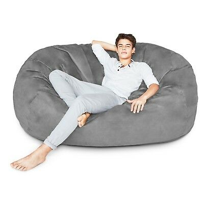 Brilliant Large Adult Bean Bag Chair 6Ft Foam Filled Oversize Sleeper Inzonedesignstudio Interior Chair Design Inzonedesignstudiocom