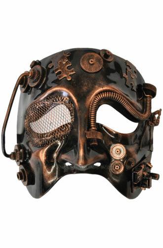 Bronze Steampunk Robot Theater Mardi Gras Masquerade Venetian Mask