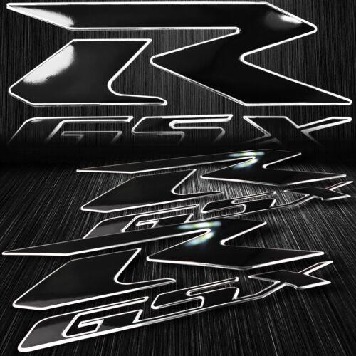 "2x 6.25/""ABS 3D Emblem Decal Fairing Logo Sticker Suzuki GSXR Black//Chrome Silver"