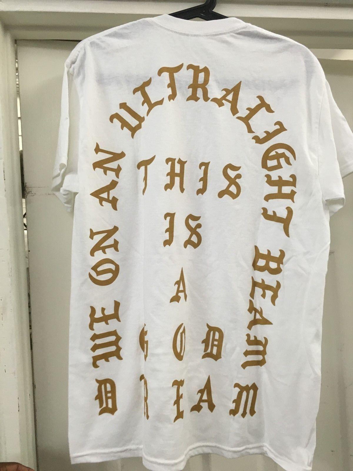 KANYE WEST LOS ANGELES GOD DREAM T-SHIRT Weiß Sz M-XL 2016 PABLO