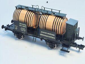 Marklin-Scale-gauge-1-Wine-Barrel-transport-wood-Museum-car-1999-museumswagen