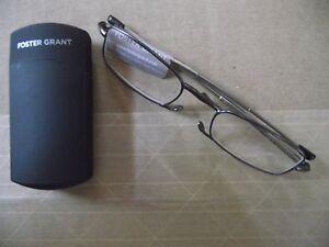 268b25de784 Foster Grant Gideon Gun Flat Folding Reading Glasses +1.00 to +2.75 ...