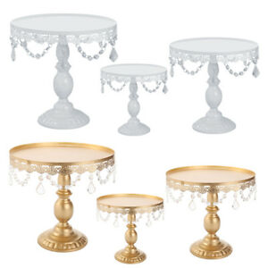 Cake-Stand-w-Crystals-8-034-10-034-12-034-Wedding-Party-Cupcake-Display-Plates-Holder