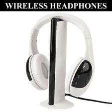 5 in 1 Wireless Headphone Earphone Headset for MP3 PC TV FM iPod White 03528e46d9d7