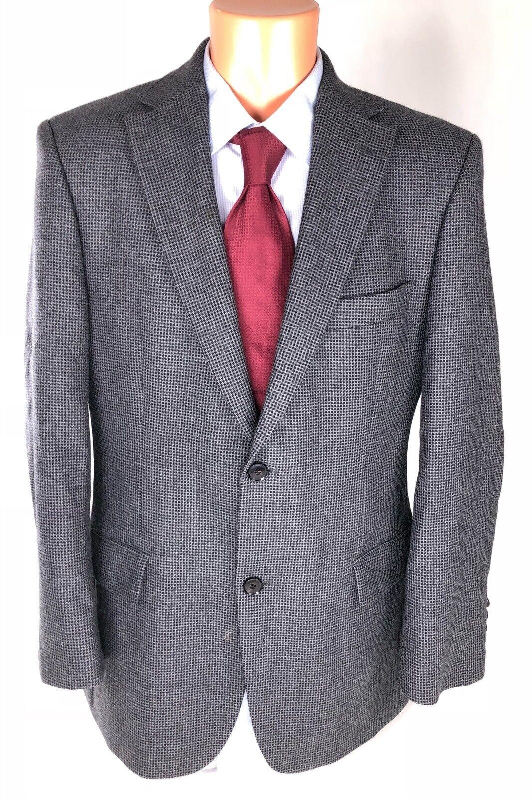 HUGO BOSS  Herren Sport Coat Blauish grau Dual Vented Wool Blazer Größe 40 R
