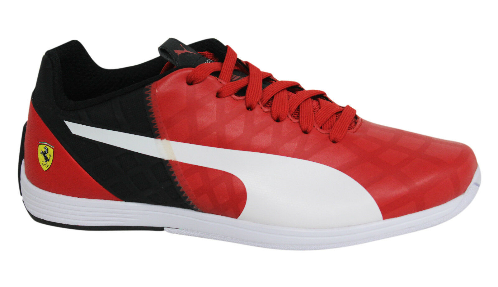Puma evoSPEED 1.4 Lace Up Red Black Leather Mens Trainers 305555 02 M10