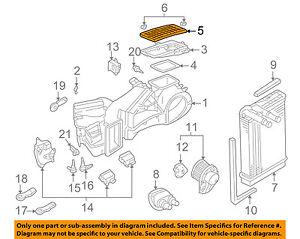 NEW Genuine Volkswagen Cabin Air Filter 1H0819644B