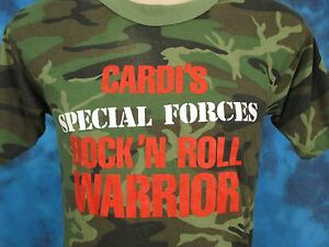 vtg-80s-SPECIAL-FORCES-ROCK-amp-ROLL-WARRIOR-CAMOUFLAGE-T-Shirt-S-camo-army-thin