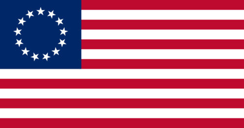 """Betsy Ross Flag USA Original 5 stickers Vinyl Decal Stickers Size 3/"""" x 1.58/"""""""
