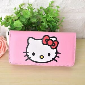 Hello-Kitty-Women-039-s-Long-PU-Leather-Clutch-Bag-Coin-ID-Wallet-Pink-Purse-Gift