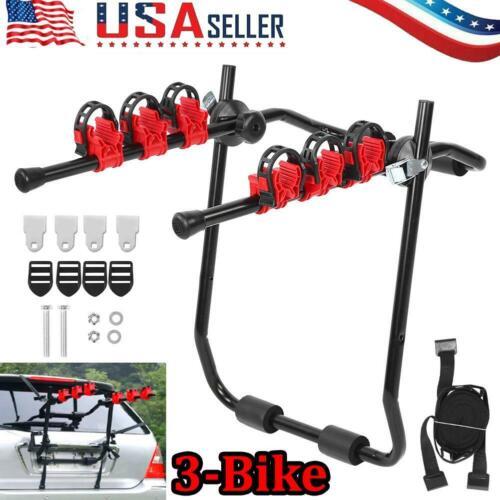 Details about  /3-Bicycle Trunk Mount Bike Carrier Rack Hatchback Portable for SUV /& Car Sport