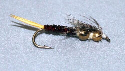 Steinfliegennymphe mit Wolfram Perlen  4 Stk. Ariana Tungsten Stonefly Nymph