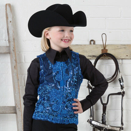 Girls' Royal Lace Sequin  Show Vest  more order