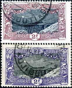 COLONIES-COTE-DES-SOMALIS-N-98-Oblitere-Variete-034-BRUN-VIOLET-AU-LIEU-DE-VIOLET-034