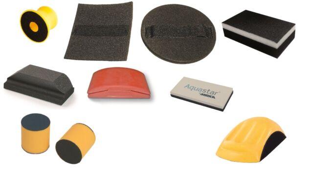 Mirka Handschleifwerkzeuge in verschieden Ausführungen ohne Absaugung