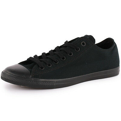Converse All Star LEAN OX Womens Mens Trainers Canvas Black Black New Shoes