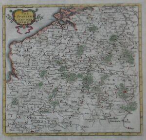 image is loading original 1701 herman moll map spanish netherlands france