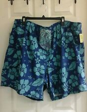 Islander, men's Hawaiian swim shorts, size XXL, blue turquoise,  polyester