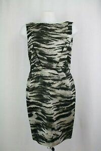 Lanvin-Sleeveless-Animal-Print-Silk-Blend-Dress-Size-UK-12-EU-40-US-8