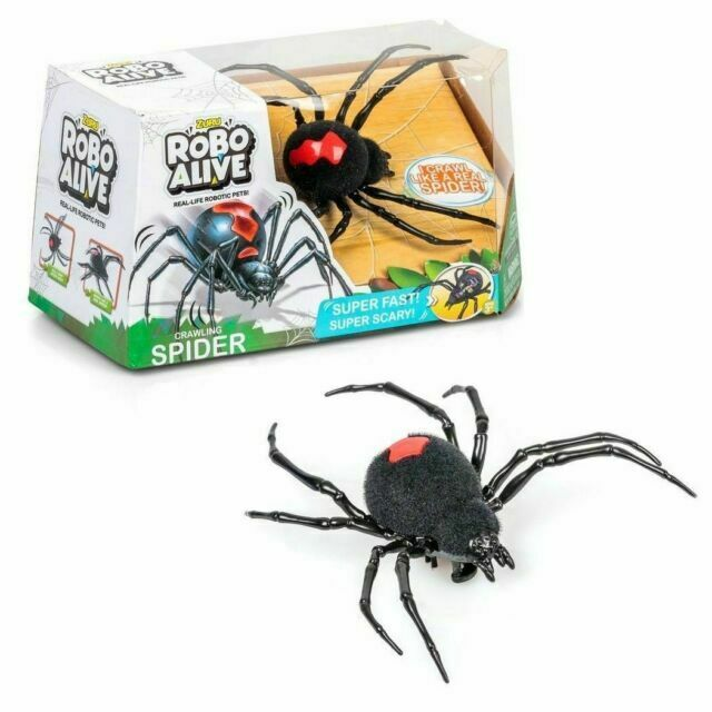 ROBO ALIVE Crawling Spider Battery-Powered Robotic Toy One Size Black