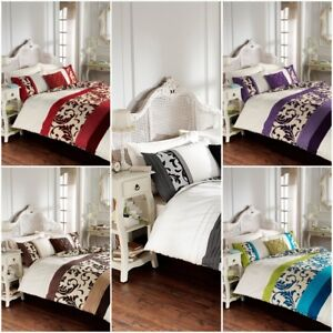 Duvet Cover With PillowCases Quilt Cover Bedding Set Scroll Single Double King