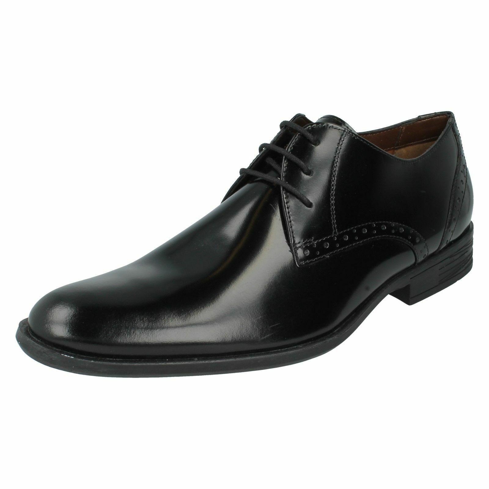 Herren Hush Puppies Schwarz Poliert Leder Formelle Schuhe Style Kensington