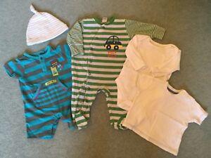 0-3 Mois Garçons Babygrow Sleepsuit Vest Bundle Du Prochain, Tu, Mothercare, George-afficher Le Titre D'origine