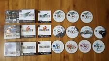 FINAL FANTASY VII  VIII IX 7 8 9 FF7 PS1 PlayStation VGC Complete Black Label