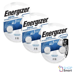 6 ENERGIZER CR2032 ULTIMATE LITHIUM BATTERIES 3V COIN CELL DL2032 EXP 2025 NEW