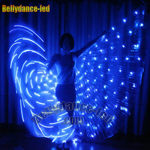 Led Isis Wings 182 Lights Rechargeable Belly Dance Light