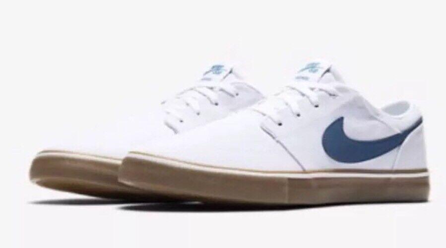 Nike SB Portmore II Solar CNVS Men's Size 10 Canvas Skate Shoes 880268-149 NEW