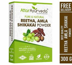 Attar Ayurveda Reetha Amla Shikakai Powder For Hair Growth 300