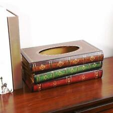 200 Pumping Retro Style Wooden Tissue Box Cover Book Shape Large Trunk Jian