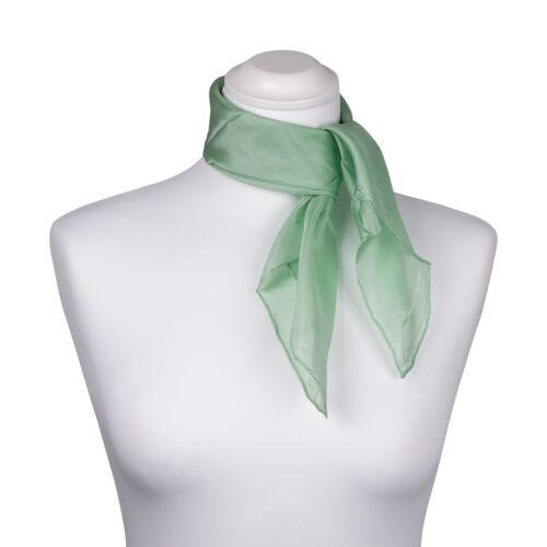 Nickituch 55x55 cm grün mint helltürkis uni einfarbig reine Seide Seidentuch pas