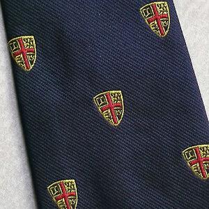 Enthousiaste Vintage Cravate Homme Cravate Shield Crested Club Association Society-afficher Le Titre D'origine MatéRiaux De Choix