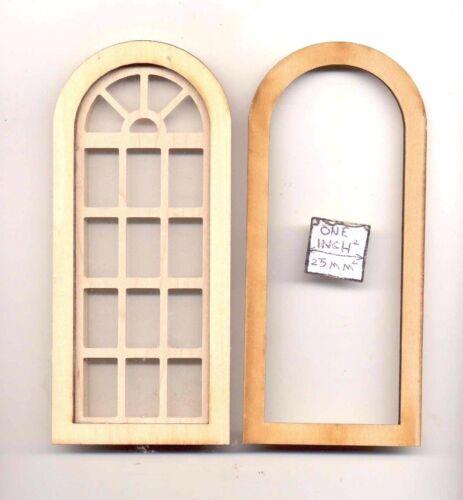 2169 wood dollhouse miniature 1:12 scale USA Window Palladian Round Top