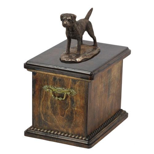 ArtDog UK dog urn made of cold cast bronze Border Terrier kind1