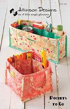 Pockets to Go, Purse Organizer Caddy Pattern, Atkinson Designs,  DIY Sewing