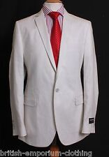 DOLCE & GABBANA D&G Cream 100% WAXED LINEN Suit Jacket Uk38 IT48 BNWT