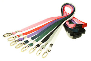 Neck-Strap-Lanyard-Safety-Breakaway-Quality-Metal-Lobster-Clip-10mm-Wide